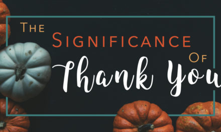 "The Significance of ""Thank you!"""