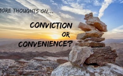 More Thoughts on Conviction vs. Convenience